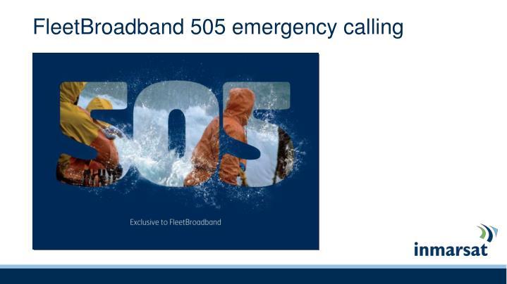FleetBroadband 505 emergency calling