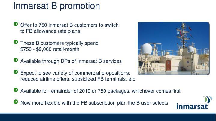 Inmarsat B promotion