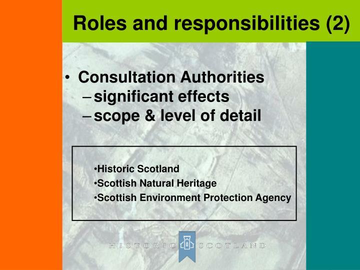 Consultation Authorities