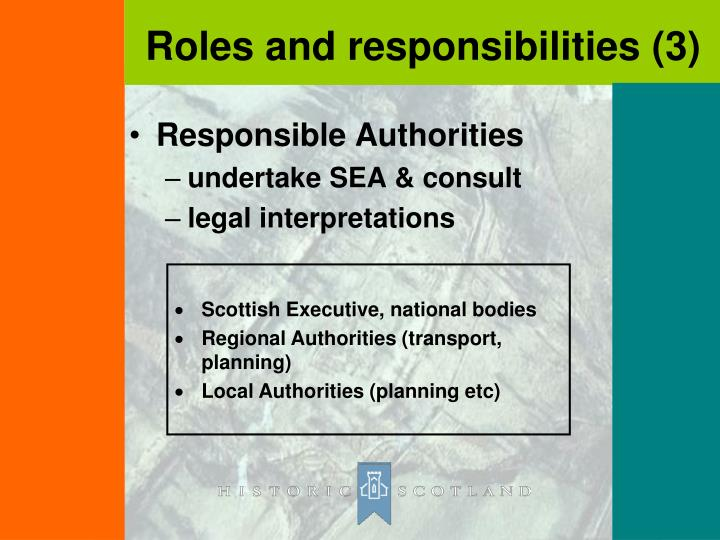 Responsible Authorities
