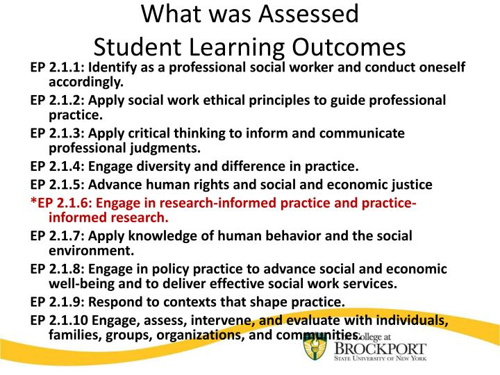 What was Assessed