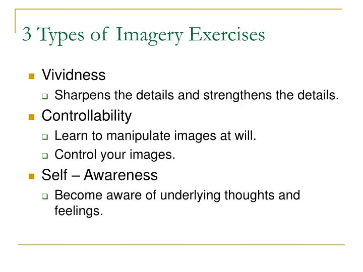 3 Types of Imagery Exercises