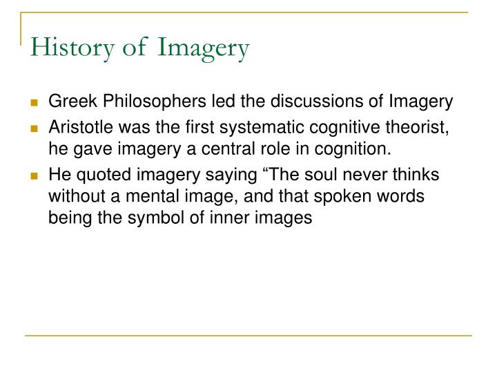 History of Imagery