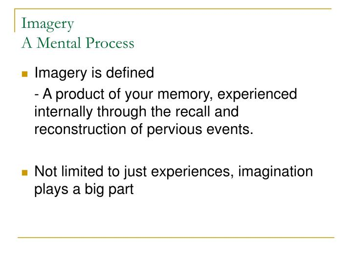 Imagery a mental process