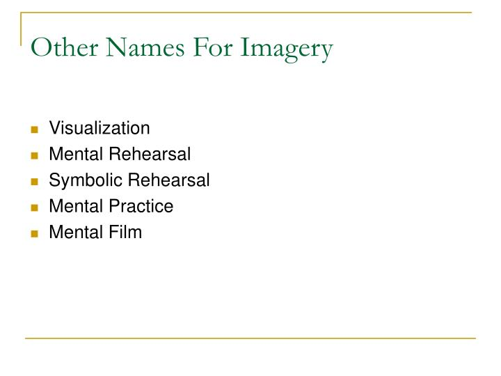Other names for imagery