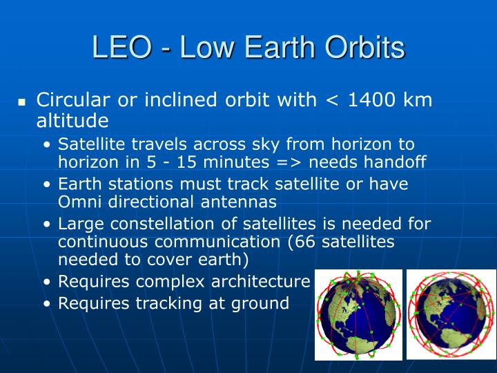 LEO - Low Earth Orbits