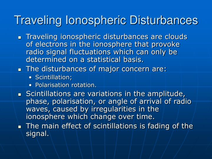 Traveling Ionospheric Disturbances