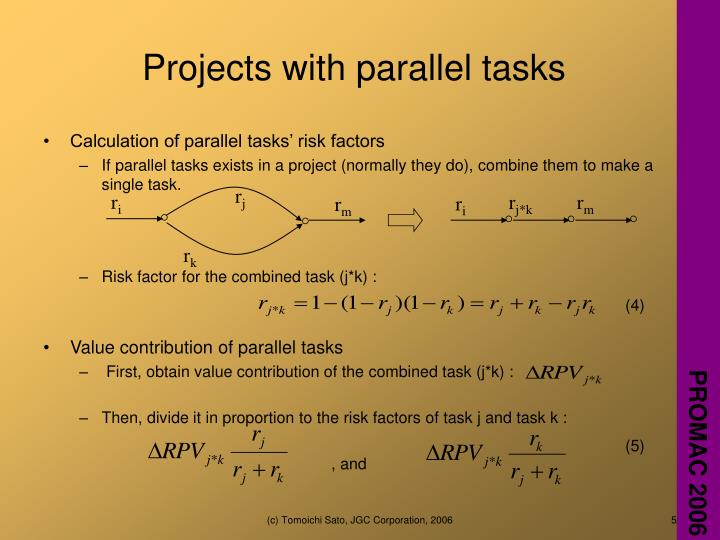Projects with parallel tasks