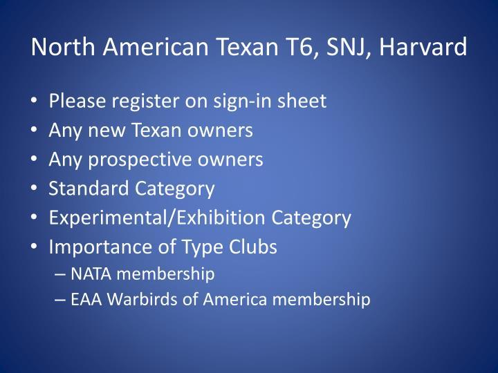 North American Texan T6, SNJ, Harvard