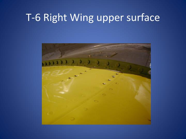 T-6 Right Wing upper surface