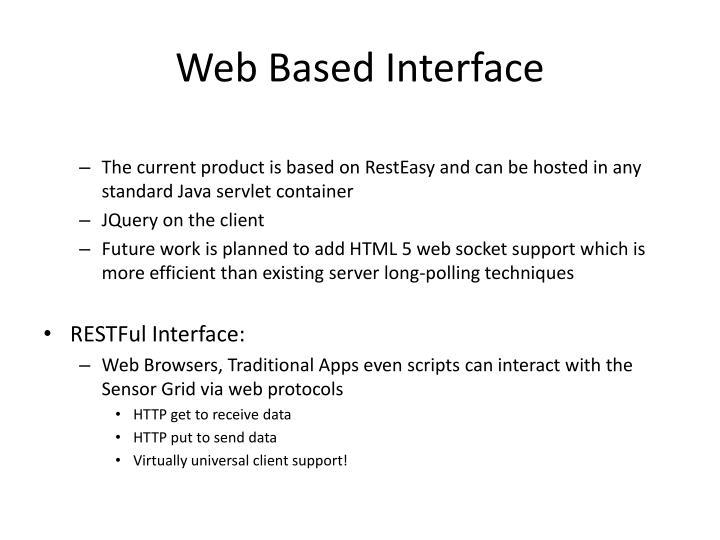 Web Based Interface