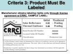 criteria 3 product must be labeled