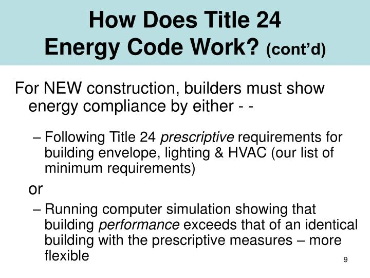 How Does Title 24