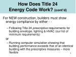 how does title 24 energy code work cont d
