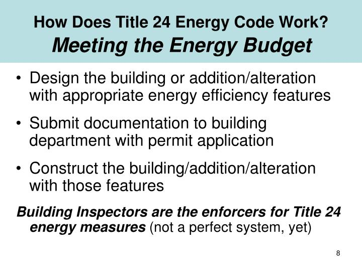 How Does Title 24 Energy Code Work?