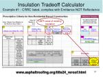 insulation tradeoff calculator example 1 crrc listed complies with emittance not reflectance