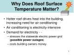 why does roof surface temperature matter
