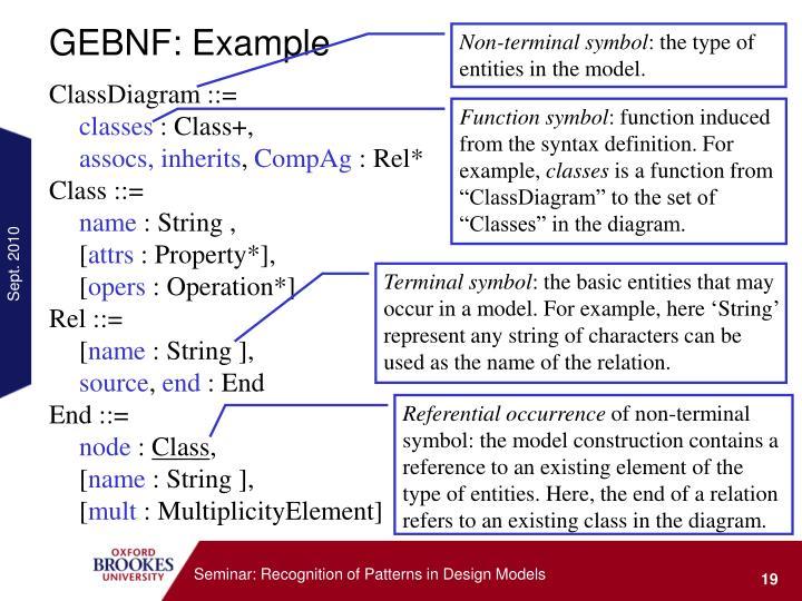 GEBNF: Example