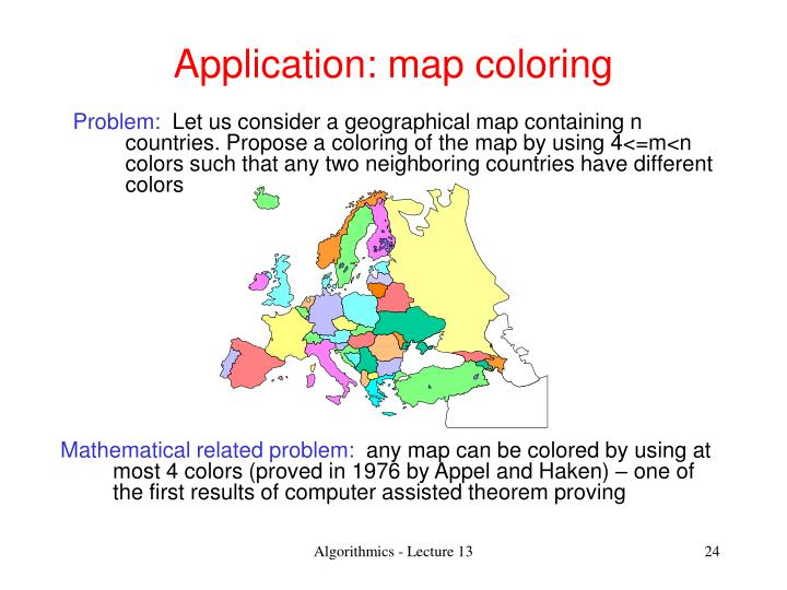 Application: map coloring