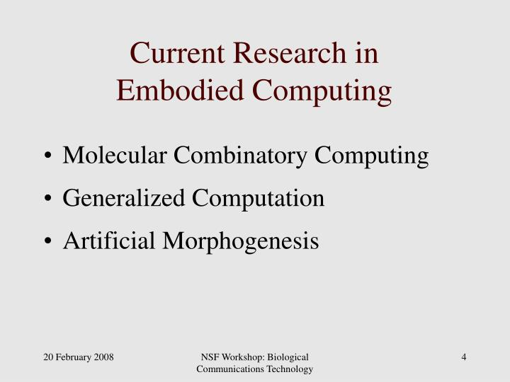 Current Research in