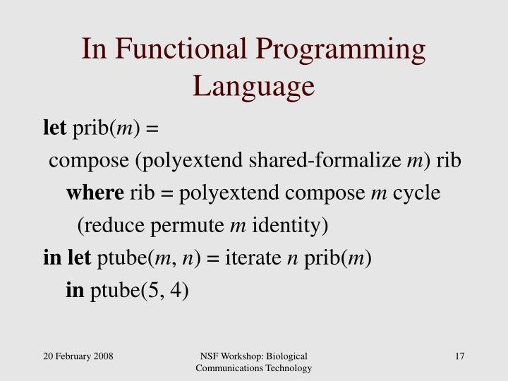 In Functional Programming Language