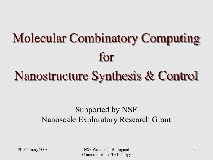 Molecular Combinatory Computing