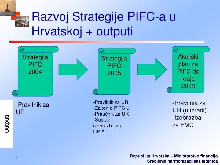 Razvoj Strategije PIFC-a u Hrvatskoj + outputi