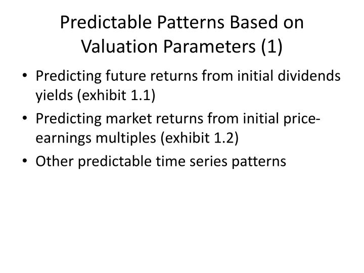 Predictable Patterns Based on Valuation Parameters (1)