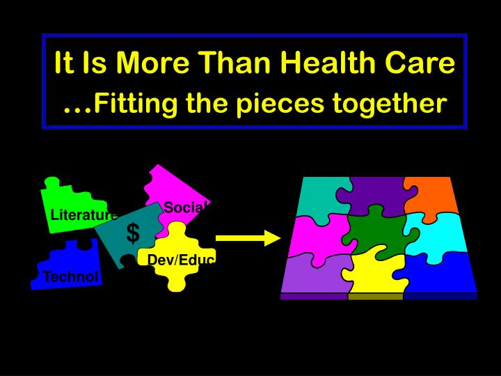 It Is More Than Health Care