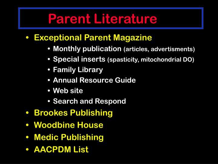 Parent Literature