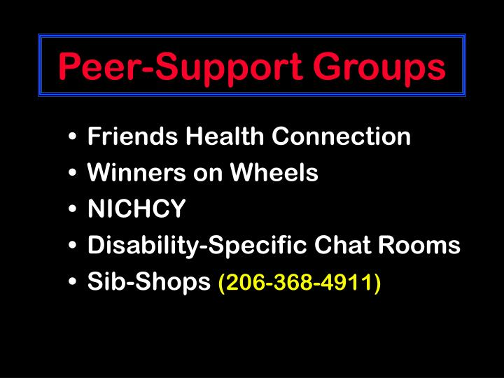 Peer-Support Groups