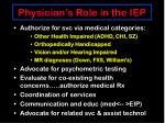 physician s role in the iep
