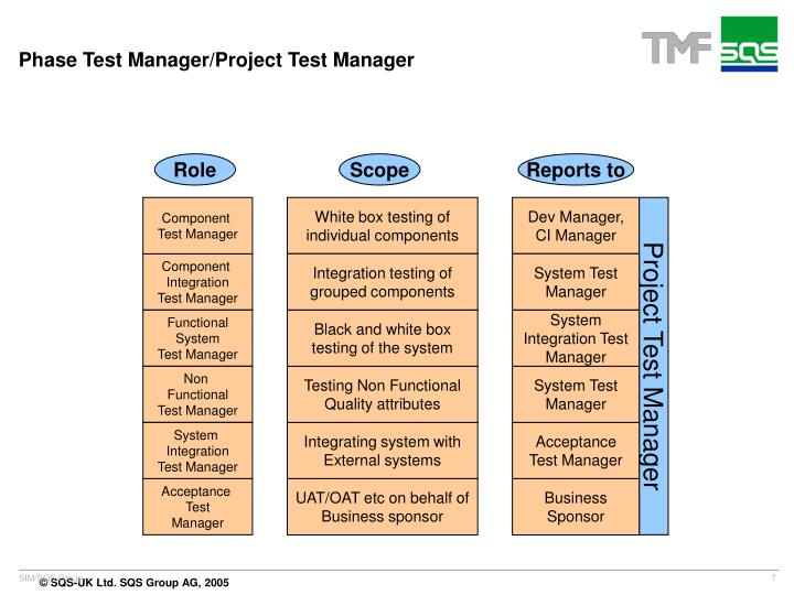 Phase Test Manager/Project Test Manager