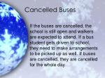 cancelled buses