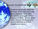 recess guidelines2