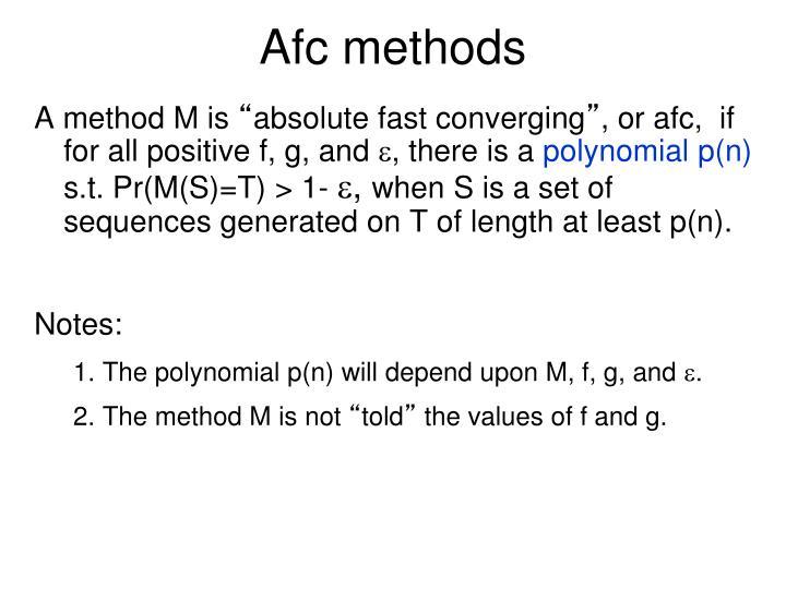 Afc methods