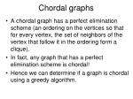 chordal graphs