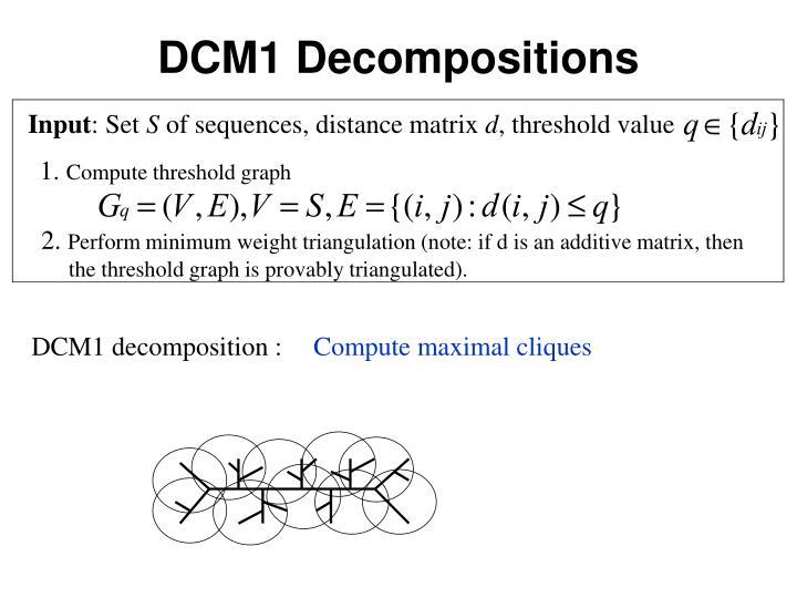 DCM1 Decompositions