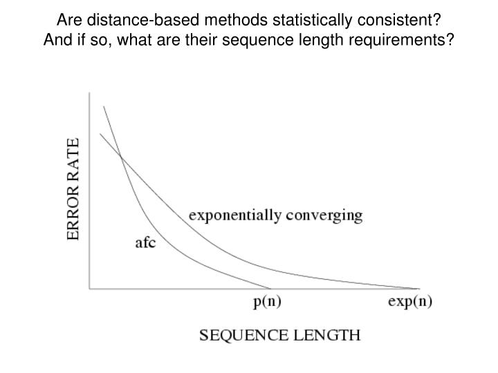 Are distance-based methods statistically consistent?