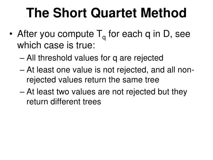 The Short Quartet Method