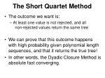 the short quartet method1
