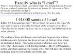 exactly who is israel