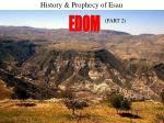 history prophecy of esau