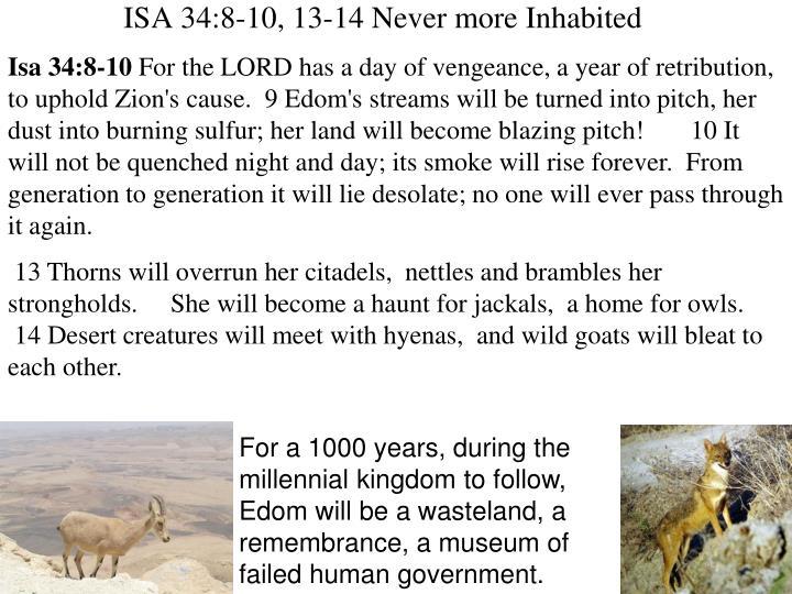 Isa 34:8-10