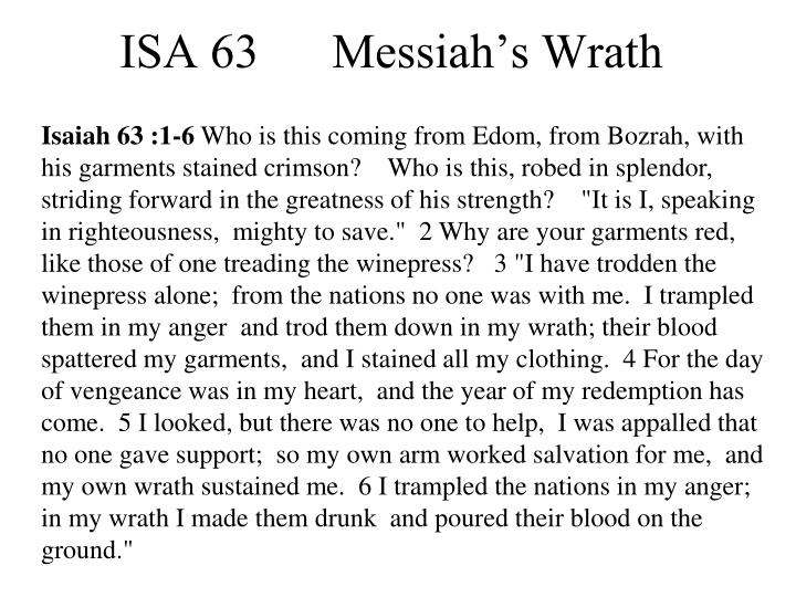 Isaiah 63 :1-6