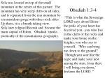 obadiah 1 3 4