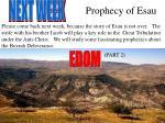 prophecy of esau