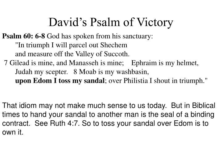 David's Psalm of Victory