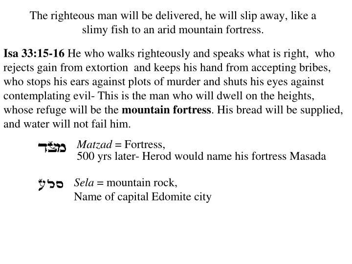 Isa 33:15-16