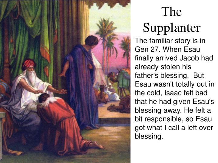 The familiar story is in Gen 27. When Esau finally arrived Jacob had already stolen his father's blessing.  But Esau wasn't totally out in the cold, Isaac felt bad that he had given Esau's blessing away. He felt a bit responsible, so Esau got what I call a left over blessing.